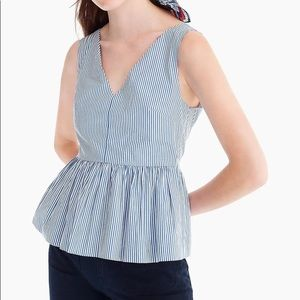 J crew striped peplum top